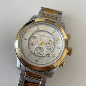 🌵Michael Kors - Unisex Silver and Gold Watch